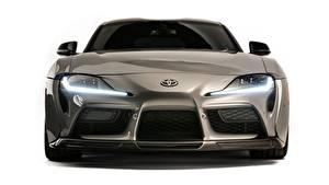 Hintergrundbilder Toyota Vorne Graue Metallisch GR Supra, A90, 2019, Rutledge Wood, HyperBoost auto