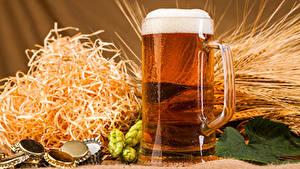 Hintergrundbilder Bier Echter Hopfen Becher Schaum Ähre Stroh Lebensmittel