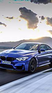 Fotos BMW Metallisch Bewegung Blau 2017 M4 CS Worldwide Autos