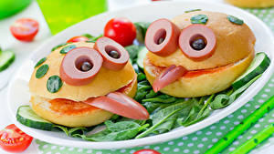 Hintergrundbilder Kreativ Fast food Brötchen Frankfurter Würstel Gemüse 2 Design