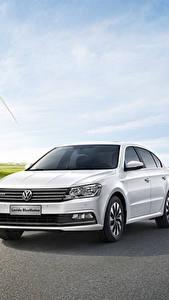 Pictures Volkswagen White Sedan 2015 Lavida