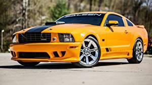 Hintergrundbilder Ford Gelb Metallisch Mustang, S302, Saleen, Extreme, 2008 Autos