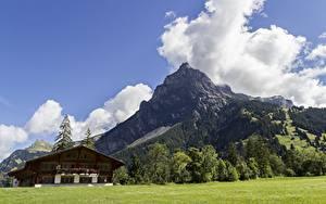 Pictures Switzerland Mountains Landscape photography Alps Clouds Village Kandersteg, Canton of Bern