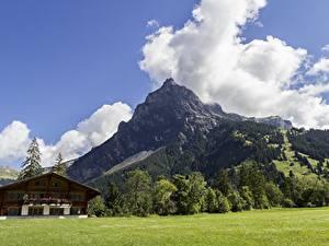 Bilder Schweiz Gebirge Landschaftsfotografie Alpen Wolke Dorf Kandersteg, Canton of Bern