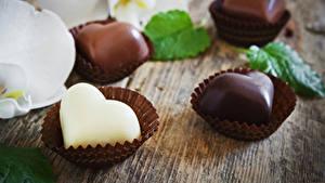 Papéis de parede Dia dos Namorados Doçarias Bala (doce) Chocolate Coração Alimentos