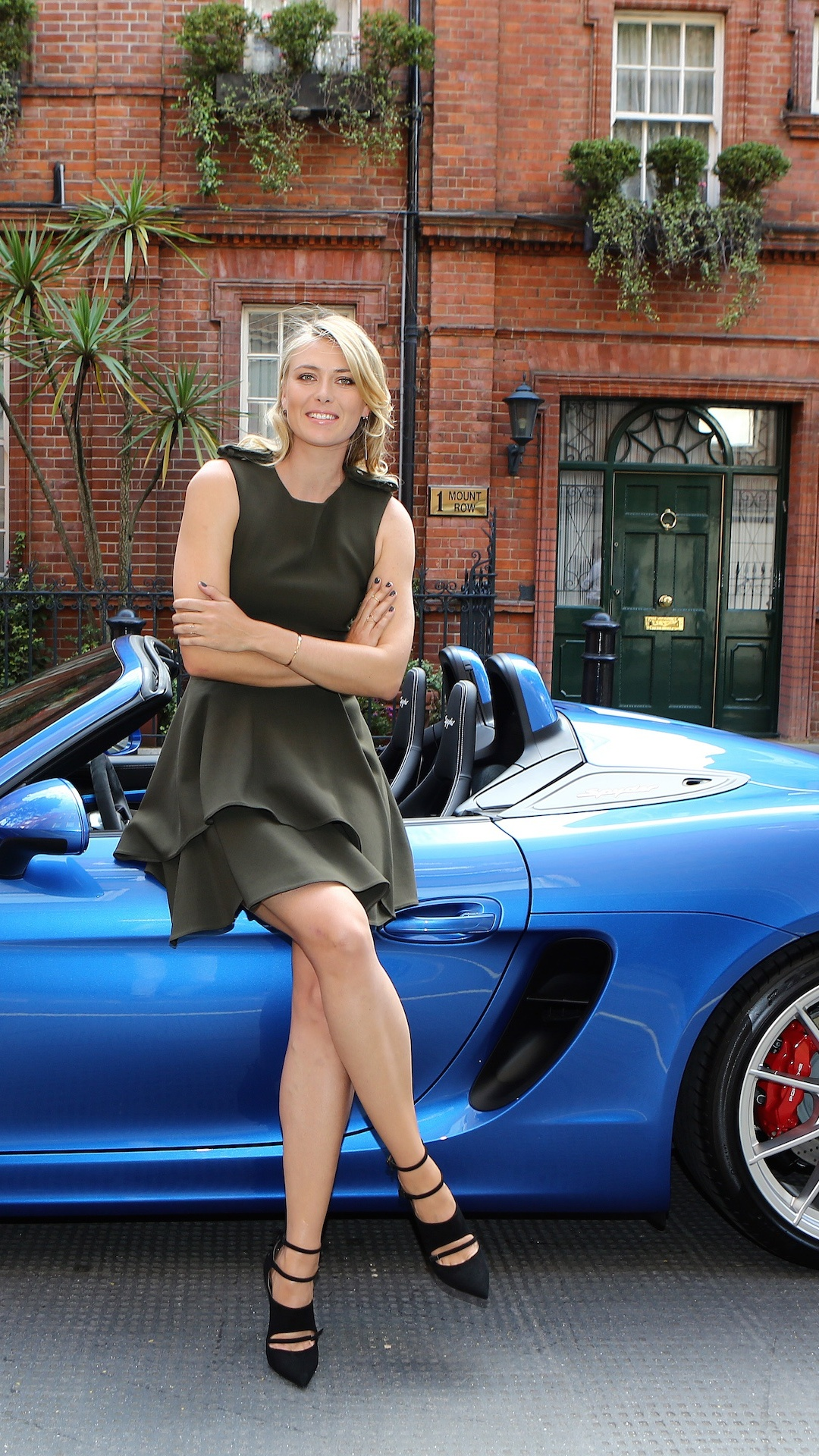 Wallpaper Maria Sharapova Porsche Girls Celebrities 1080x1920