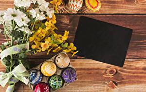 Hintergrundbilder Feiertage Ostern Chrysanthemen Bretter Vorlage Grußkarte Ast Ei Design Blumen