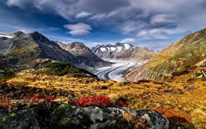 Fotos Berg Schweiz Alpen Aletsch Glacier