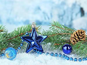 Hintergrundbilder Neujahr Ast Zapfen Stern-Dekoration Kugeln