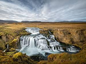 Fotos Flusse Wasserfall Island Natur