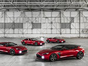 Hintergrundbilder Aston Martin Rot Metallisch Dunkelrote 2016-18 Vanquish Zagato Autos