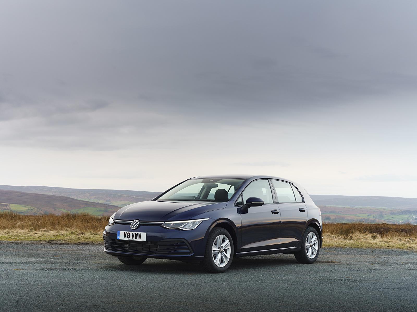 Bilder von Volkswagen 2020 Golf Life Blau auto Metallisch 1600x1200 Autos automobil
