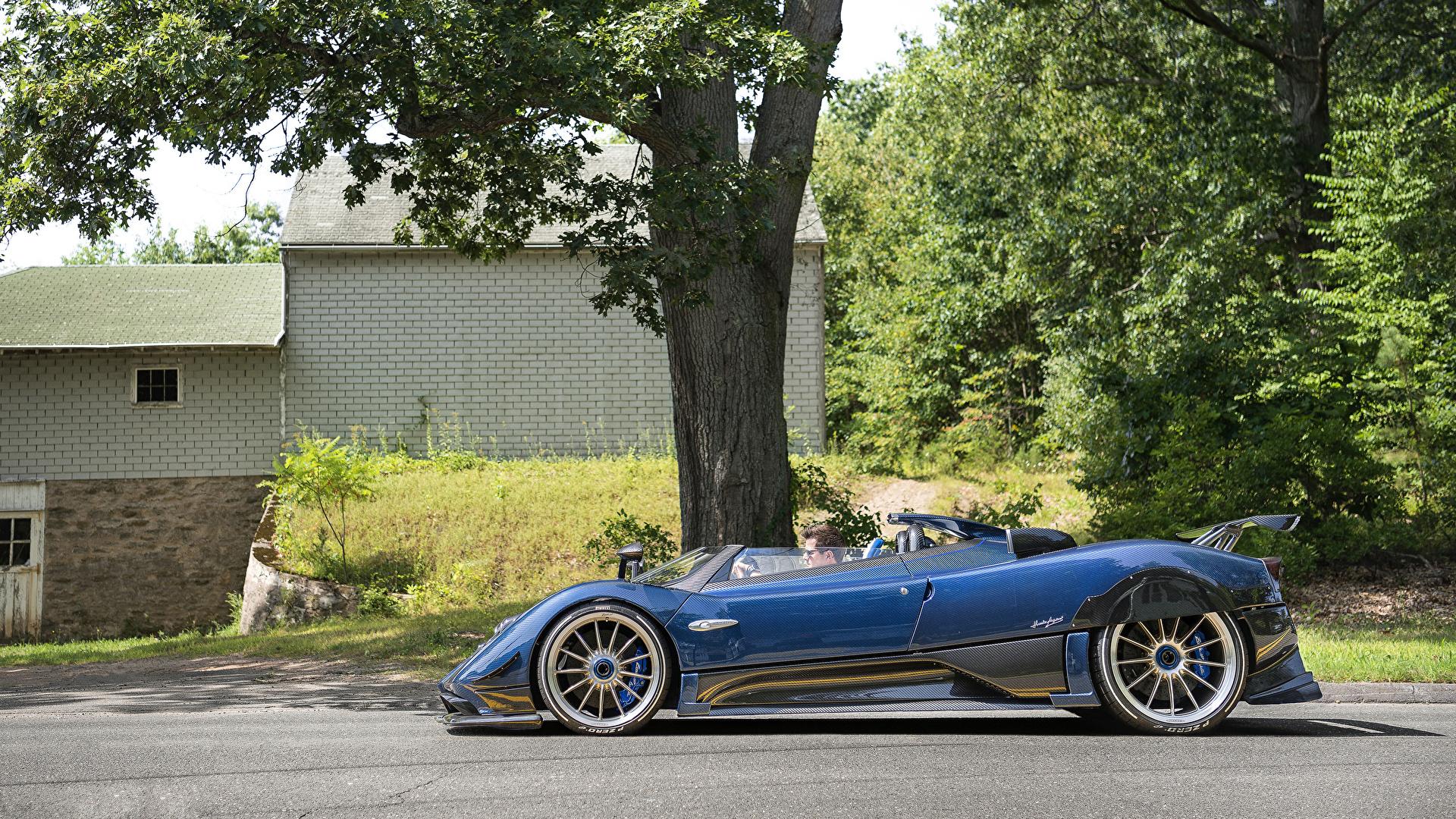 Papeis De Parede 1920x1080 Pagani 2017 18 Zonda Hp Barchetta Celeste Lateralmente Metalico Azul Roadster Carros Baixar Imagens