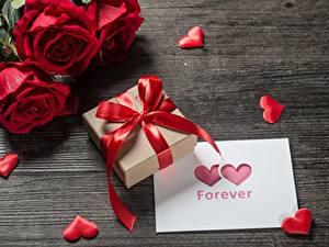 Papéis de parede Dia dos Namorados Presentes Laço Coração Flores
