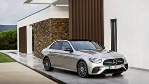 Fondos de escritorio Mercedes-Benz Gris Metálico 2020 E-Klasse AMG Line Worldwide el carro