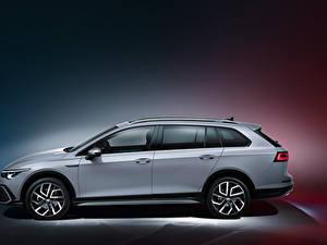 Image Volkswagen Station wagon Grey Metallic Side Golf Alltrack, 2020 Cars