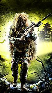 Hintergrundbilder Sniper Scharfschützengewehr Scharfschütze Tarnung Ghost Warrior 2