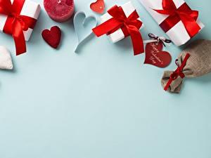 Papel de Parede Desktop Dia dos Namorados Presentes Coração Cartão do molde