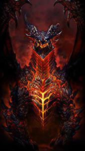 Hintergrundbilder WoW Drache Deathwing Fantasy