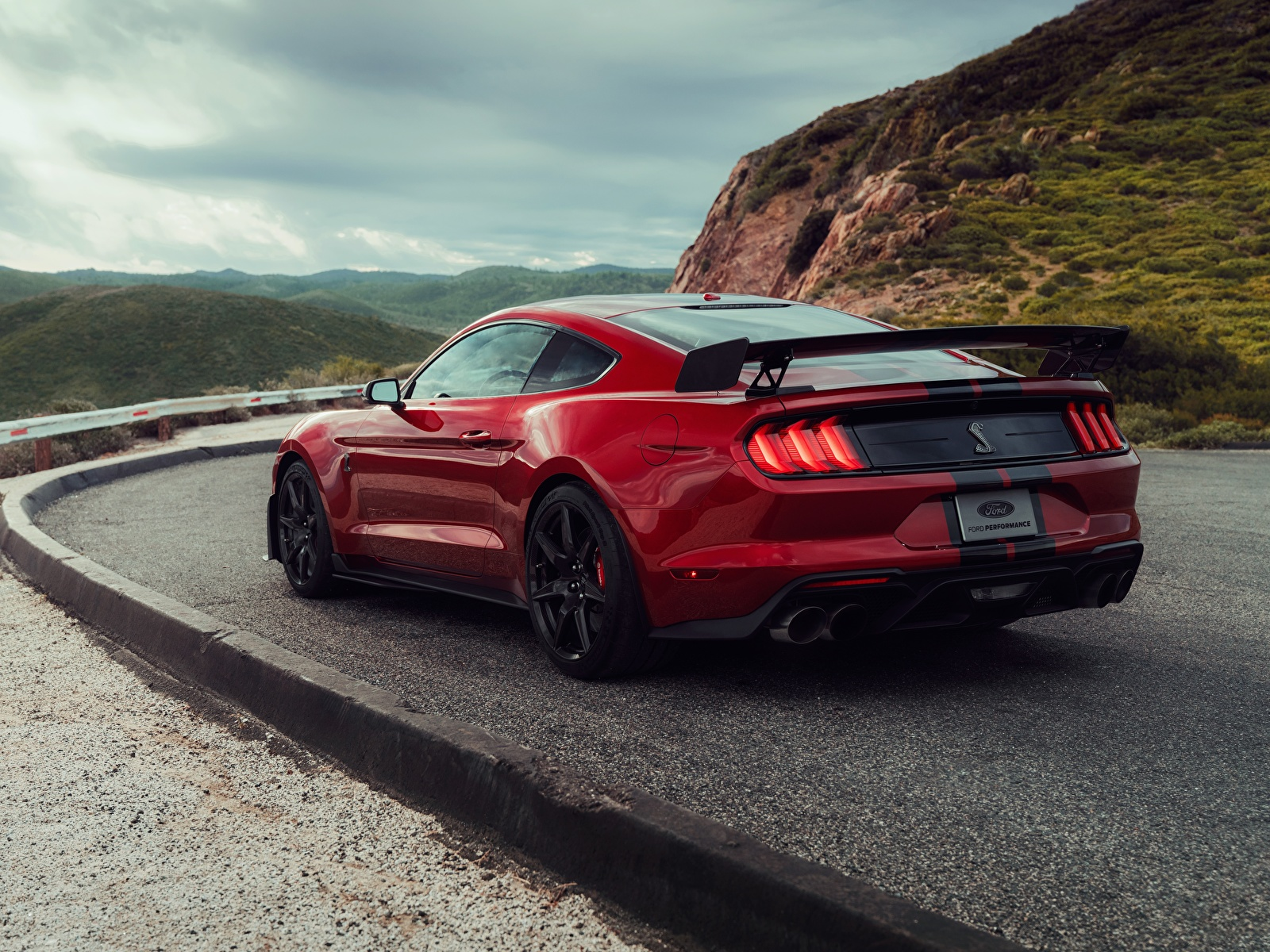 Desktop Wallpapers Ford Mustang Shelby Gt500 2019 Red Cars