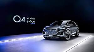 Fotos Audi Softroader Metallisch Audi Q4 Sportback e-tron Concept, 2020 automobil