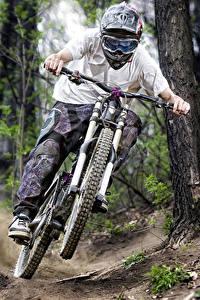 Fotos Fahrräder Helm Fahren Brille Sport