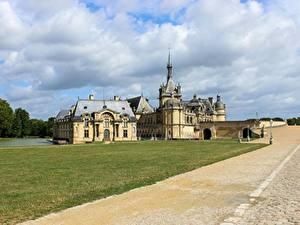 Hintergrundbilder Wege Burg Frankreich Gras