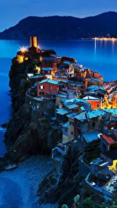 Hintergrundbilder Vernazza Cinque Terre Park Italien Küste Haus Felsen Nacht Städte