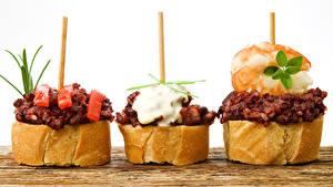 Bilder Fast food Butterbrot Brot Drei 3