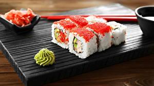 Bilder Meeresfrüchte Sushi Reis Kaviar