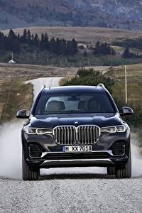 Fotos BMW Vorne Crossover Blau 2019 X7 G07 Autos