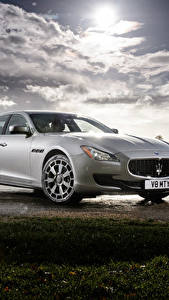 Pictures Maserati Silver color 2013-16 Quattroporte S automobile