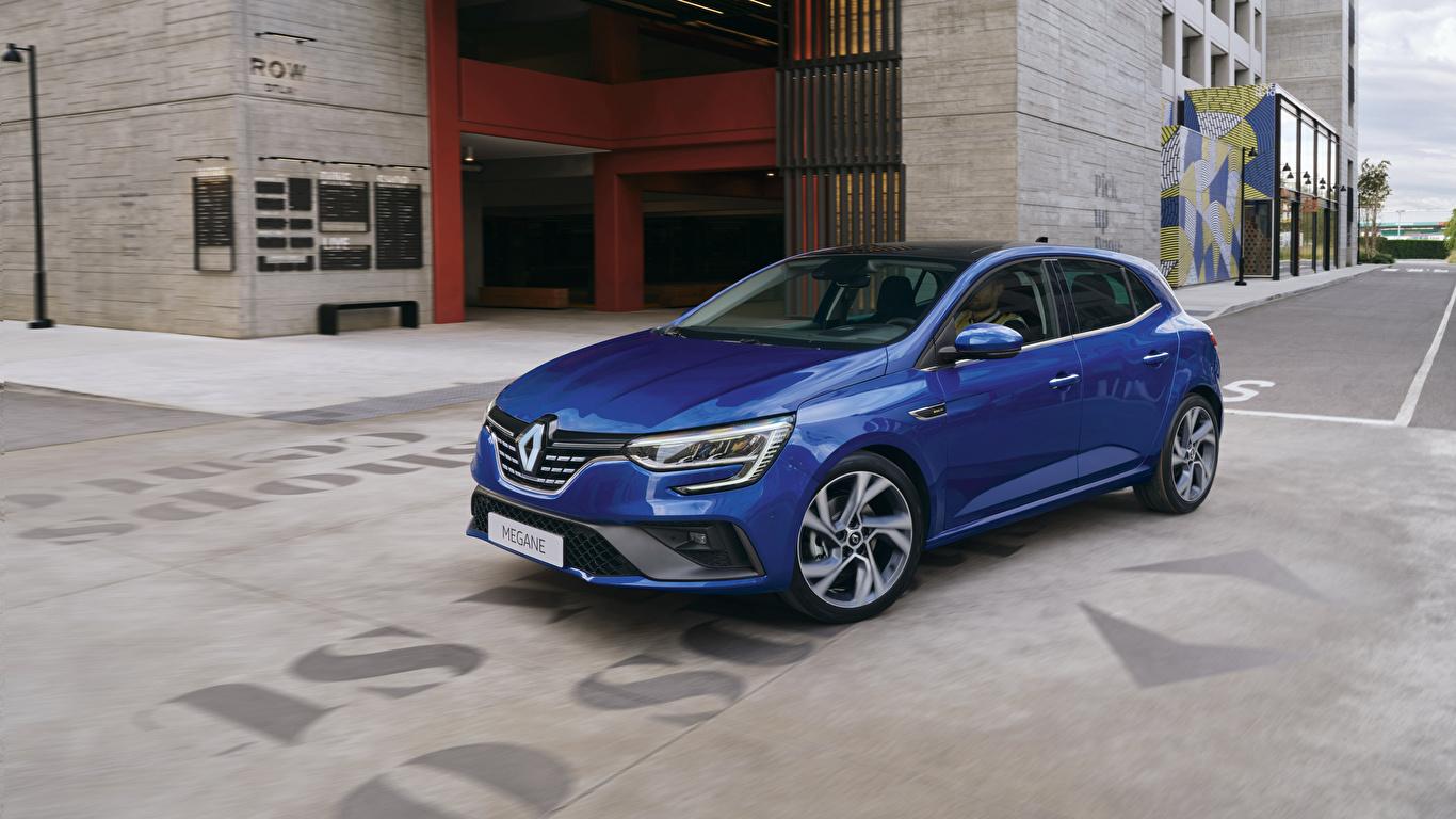 Desktop Hintergrundbilder Renault Blau automobil Metallisch 1366x768 auto Autos
