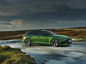 Bilder Audi Grün Kombi 2020 RS 4 Avant auto