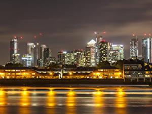 Fotos England Gebäude Flusse Abend London Städte
