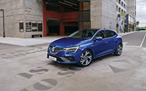 Bilder Renault Blau Metallisch  auto