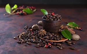 Photo Coffee Grain Cup Foliage Food