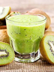 Bilder Saft Kiwifrucht Trinkglas Lebensmittel
