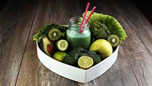 Hintergrundbilder Gemüse Obst Smoothie Bretter Weckglas Grün das Essen