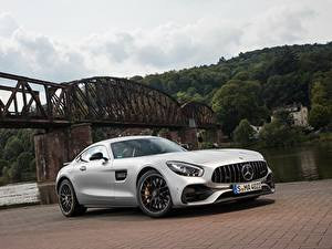 Wallpaper Mercedes-Benz Retro Silver color 2017 GT S automobile