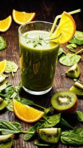 Hintergrundbilder Smoothie Kiwifrucht Orange Frucht Trinkglas Blattwerk
