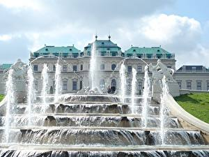 Pictures Austria Vienna Fountains Sculptures Palace Palace complex Belvedere Cities