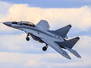 Fotos Flugzeuge Jagdflugzeug Russische Flug RSK MiG-35 Luftfahrt