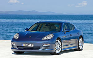 Fotos Porsche Blau Metallisch Panamera 4S, Worldwide, 970 Autos