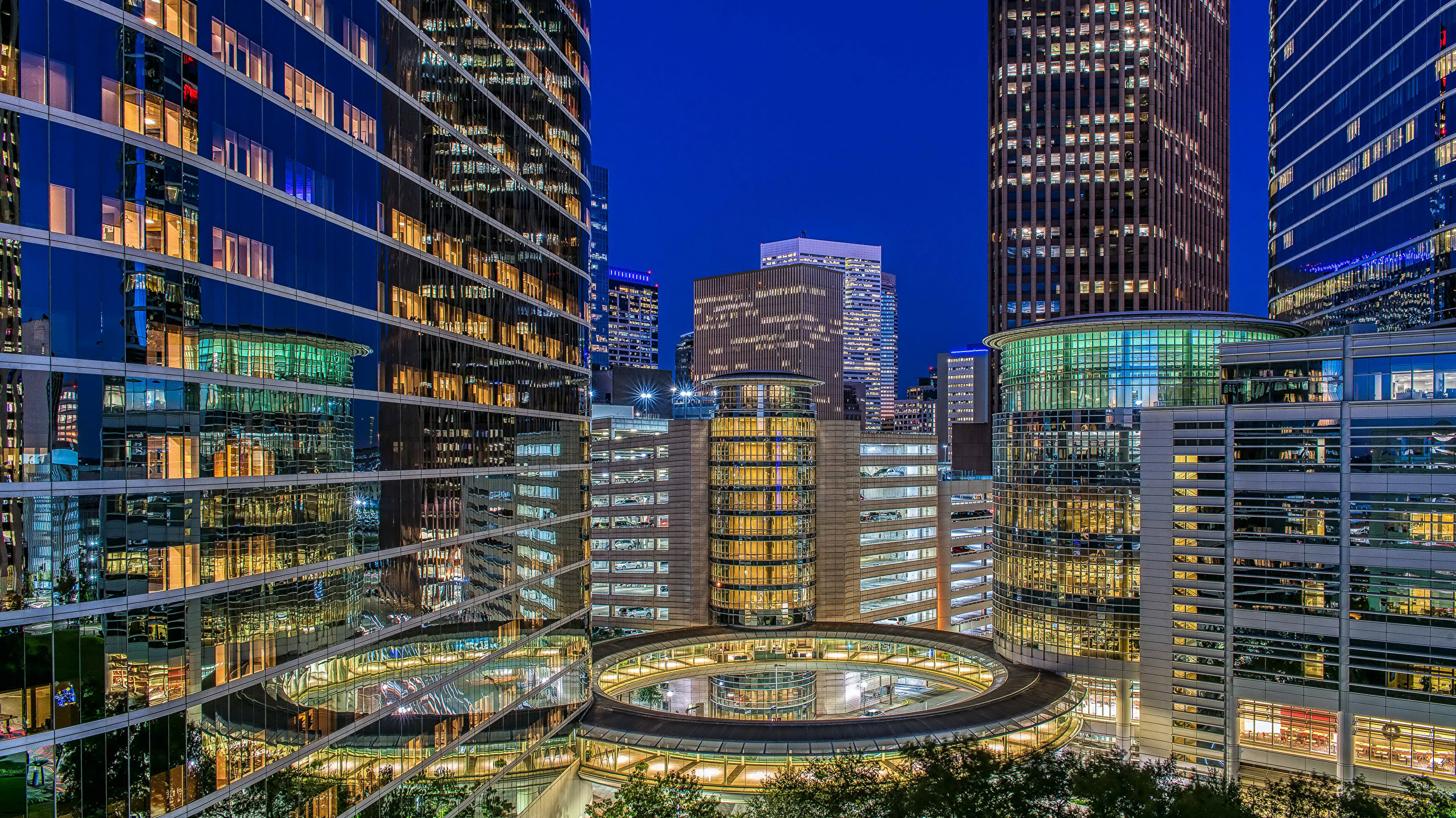 Images Texas Usa Houston Evening Houses Cities 2560x1440