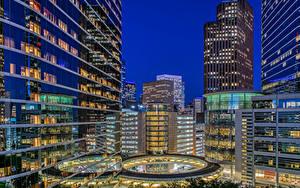 Bilder Vereinigte Staaten Gebäude Abend Texas Houston Städte