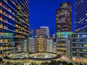 Bilder Vereinigte Staaten Gebäude Abend Texas Houston