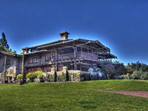 Fotos USA Gebäude Kalifornien HDRI Herrenhaus Design Rasen Pasadena Städte