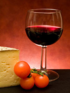 Pictures Wine Cheese Tomatoes Stemware