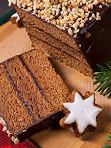 Hintergrundbilder Neujahr Backware Kekse Schokolade Torte Stück